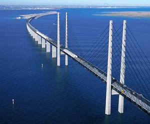 Oresund Bridge between Denmark and Sweden